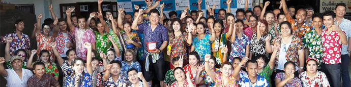 MIGHTY Electrics Co., Ltd. held Songkran festival celebration led by Mr. Somboon Saovaneewatkul, managing director, together with all staffs of MIGHTY